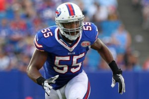 Jerry Hughes is staying in Buffalo.
