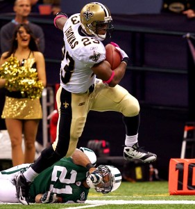 Pierre Thomas ends his Saints tenure as the franchise's fourth all-time leading rusher.