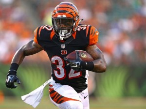 Jeremy Hill left his team's game with an ankle injury in week 12.