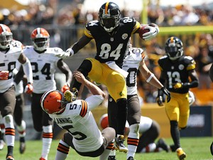 Antonio Brown grabs the top spot among wide receivers. Photo Credit: Jason Bridge-USA TODAY Sports