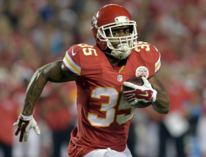 Charcandrick West has some nice moves, time to see if he can be a big time back.
