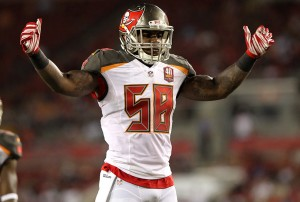 24 AUG 2014: Kwon Alexander of the Buccaneers during the Preseason game of the season between the Cincinnati Bengals and the Tampa Bay Buccaneers at Raymond James Stadium in Tampa, Florida.