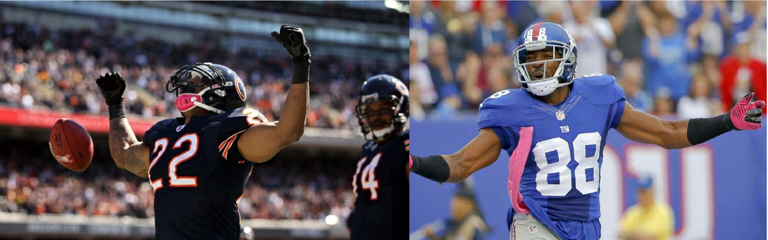 Matt Forte, Hakeem Nicks