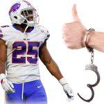 LeSean McCoy Handcuff