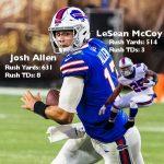 Josh Allen LeSean McCoy Rushing Stats